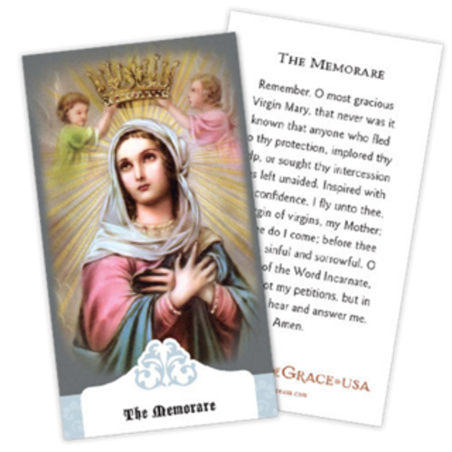 Memorare Prayer Cards