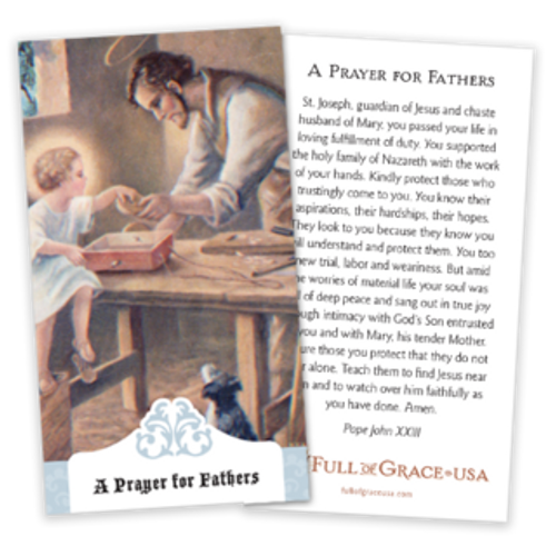 Prayer for Fathers Prayer Cards