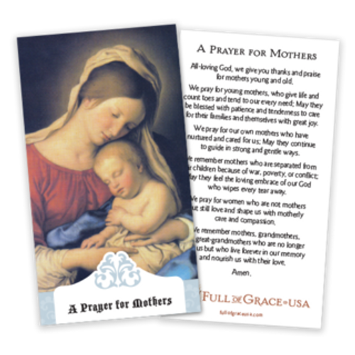 Prayer for Mothers Prayer Cards