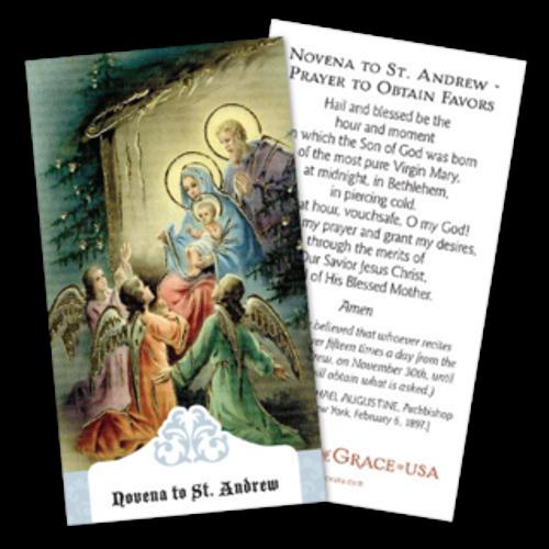 St. Andrew Novena Prayer Cards