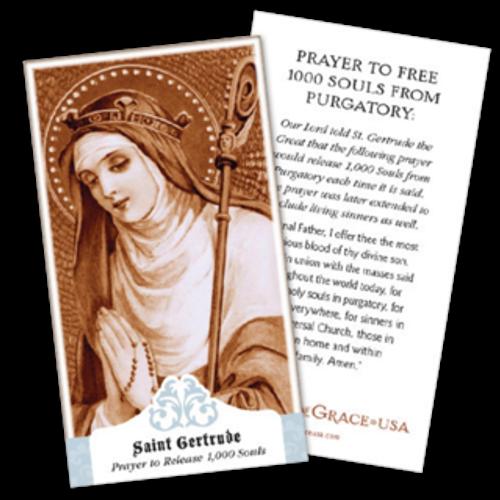 St. Gertrude Prayer Cards