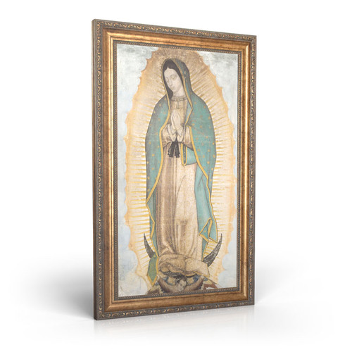 "Our Lady of Guadalupe - Framed Canvas 12"" X 22"""