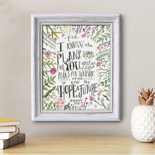 Jeremiah 29:11 - Framed Canvas