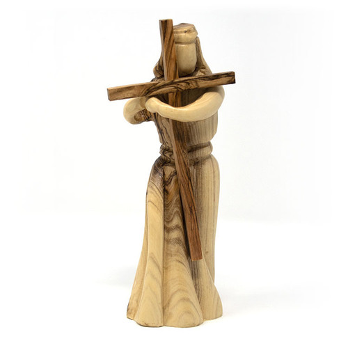 Olive Wood Jesus Carrying His Cross
