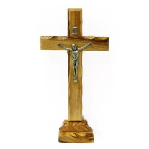 Olive Wood Cross with Stand