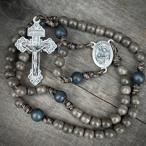 Hand Made Rosary | Holy Family | The Catholic Woodworker | 95 Paracord
