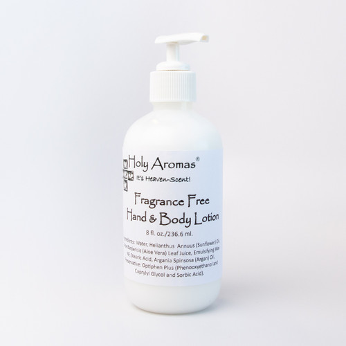Holy Aromas® | Hand and Body Lotion - Fragrance Free - Front