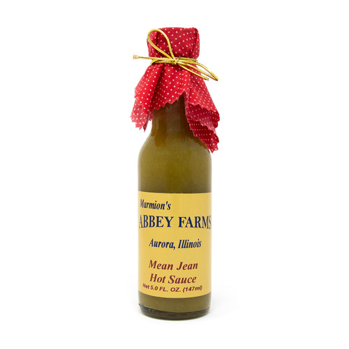 Abbey Farms    Mean Jean's 3-Pepper Hot Sauce - Made To Support The Benedictine Monks of Marmion Abbey
