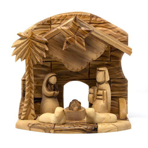Bethlehem Cooperative || Olive Wood Music Box - Nativity Set