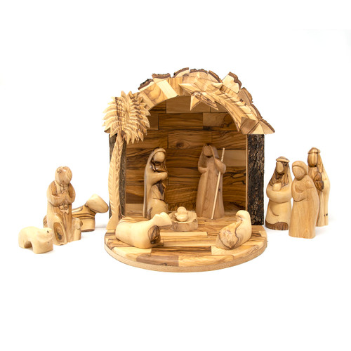 Bethlehem Cooperative || Olive Wood Statue Set - Full Nativity Story
