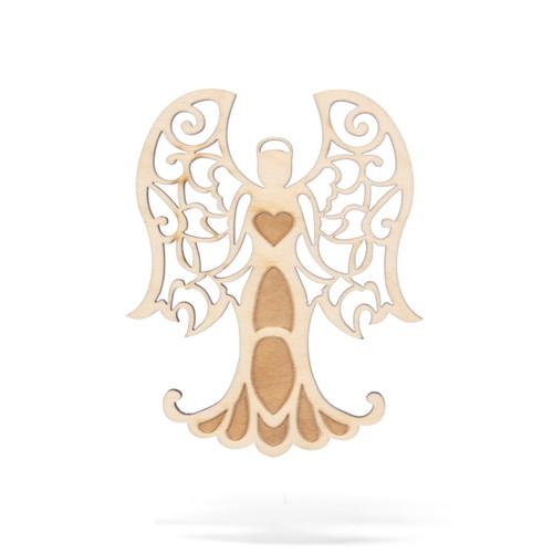 Subiaco Abbey   Wooden Ornament - Ruffle Edge Angel