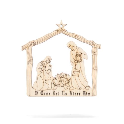 Subiaco Abbey | Wooden Ornament - Nativity