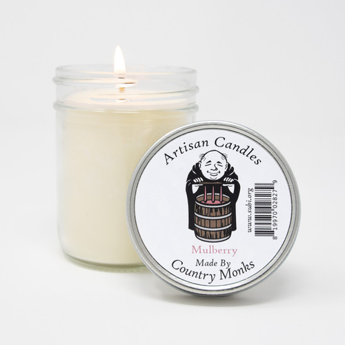 Subiaco Abbey   Handcrafted Artisan Candle - Mulberry