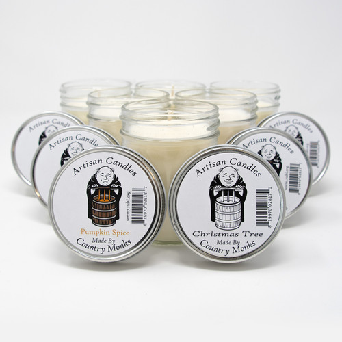 Subiaco Abbey | 6-Pack Assorted Artisan Candles - Holiday Set