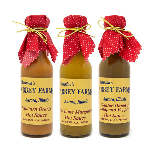 Abbey Farms    Hot Sauce Variety 3-Pack - Sweet and Mild