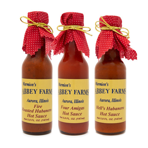 Abbey Farms || Hot Sauce Variety 3-Pack - Hot and Spicy