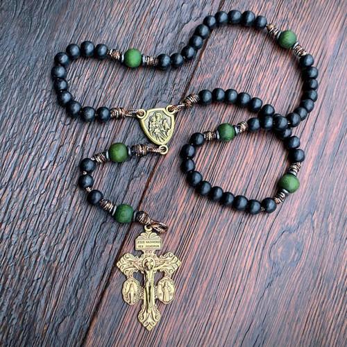 Handmade Rosary | Saint Joseph the Guardian | The Catholic Woodworker | LIMITED EDITION