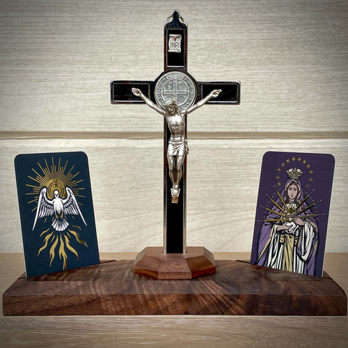Home Altars | Holy Spirit and Mater Dolorosa | The Catholic Woodworker | LIMITED EDITION