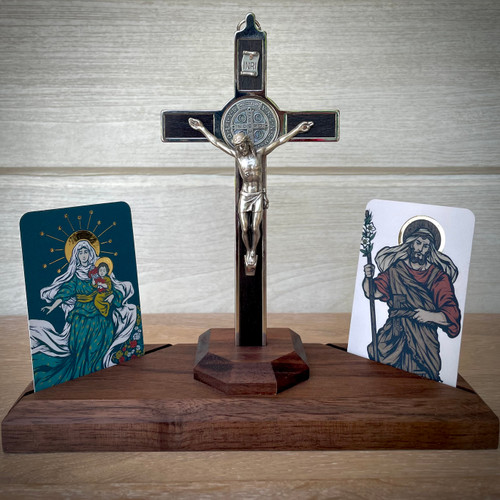 Home Altar - St. Joseph the Worker and Theotokos
