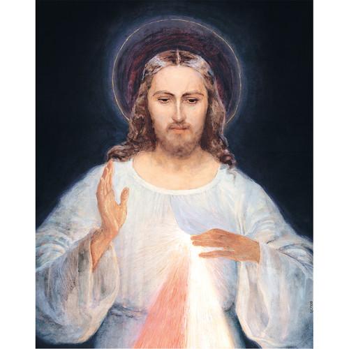 "Face of Jesus - Canvas Print - 8"" x 10"" - Divine Mercy Vilnius"