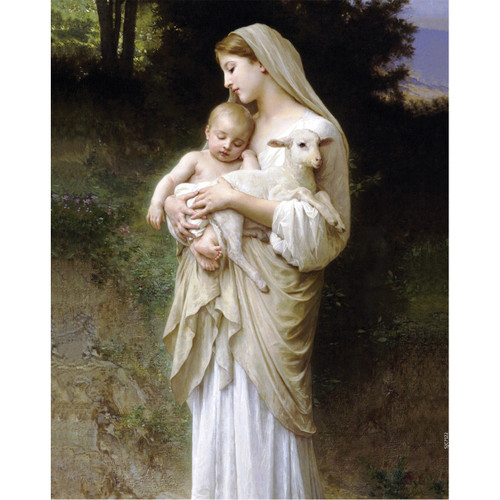 L'Innocence painting by William-Adolphe Bouguereau (1881) - Canvas Print