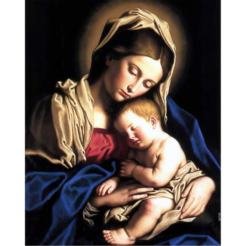 Madonna and Child painting by Giovanni Battista Salvi da Sassoferrato (1640) - Canvas Print