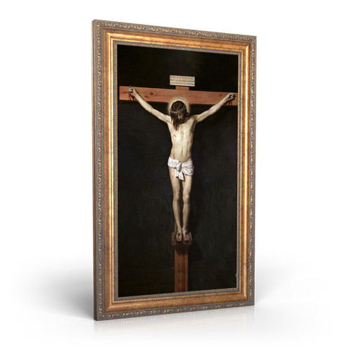 """Christ Crucified painting by Diego Velázquez (1632) - Canvas Print - 8"""" x 10"""" - Crucifixion of Jesus"""