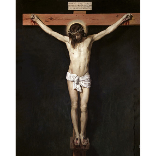 """Christ Crucified painting by Diego Velázquez (1632) - Canvas Print - 16"""" x 20"""" - Crucifixion of Jesus"""