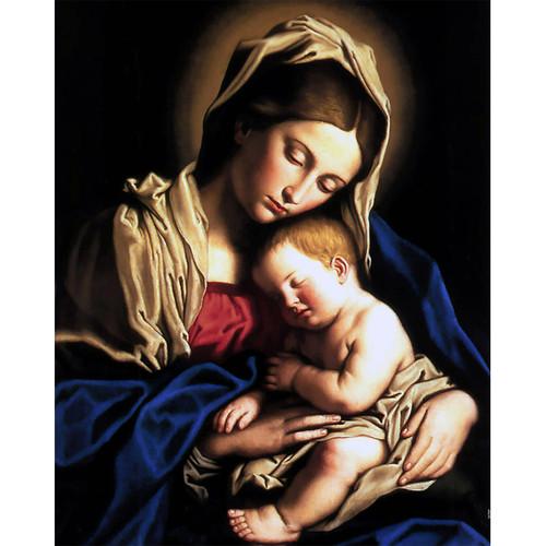 "Madonna and Child painting by Giovanni Battista Salvi da Sassoferrato (1640) - Canvas Print - 16"" x 20"""