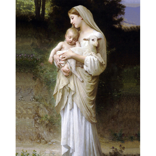 """L'Innocence painting by William-Adolphe Bouguereau (1881) - Canvas Print - 16"""" x 20"""""""