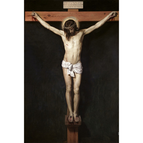 """Christ Crucified painting by Diego Velázquez (1632) - Canvas Print - 12"""" x 18"""" - Crucifixion of Jesus"""