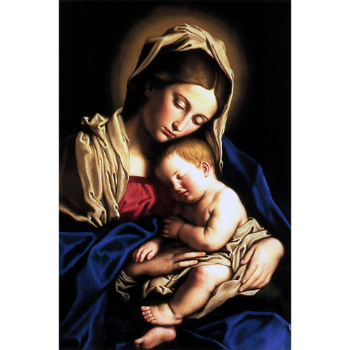 "Madonna and Child painting by Giovanni Battista Salvi da Sassoferrato (1640) - Canvas Print - 12"" x 18"""