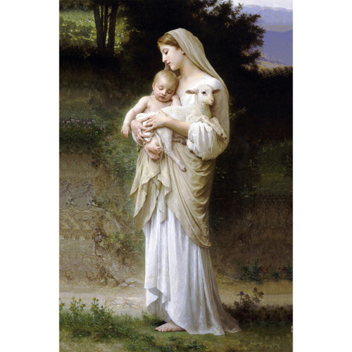 """L'Innocence painting by William-Adolphe Bouguereau (1881) - Canvas Print - 12"""" x 18"""""""