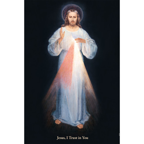 """Divine Mercy (Vilnius) - Canvas Print - 12"""" x 18"""" - Rays of Mercy"""