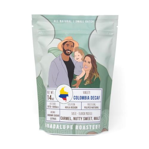 Colombian Decaf Medium Roast - 14 oz Whole Bean