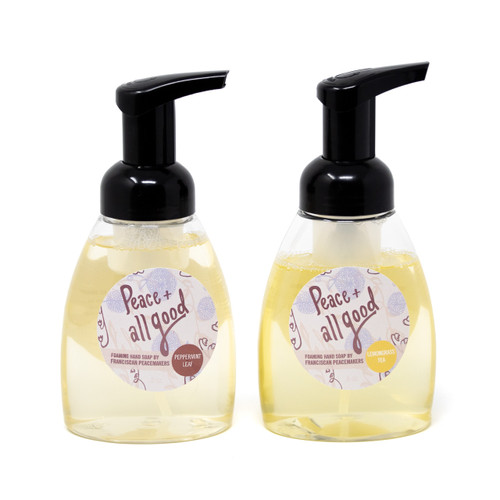 Franciscan Peacemakers | 2-Pack Foaming Hand Soap - Peppermint Leaf and Lemongrass Tea