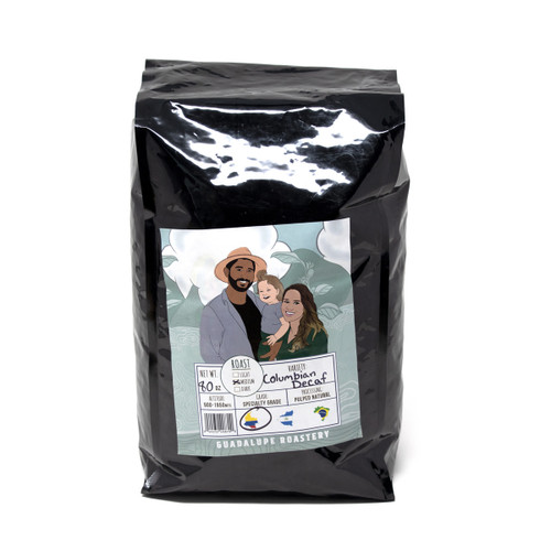 Guadalupe Roastery | Colombian Blend Decaf | Medium Roast | 5lb Whole Bean