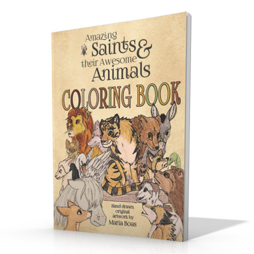 Amazing Saints & Their Awesome Animals Coloring Book