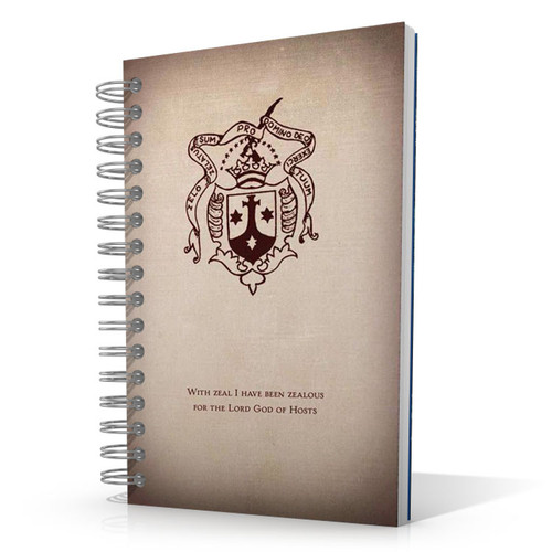 Carmelite Shield 5.5 x 8.5 Journal