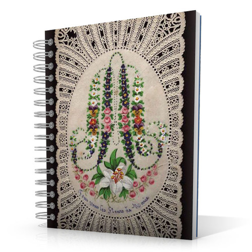 Ave Maria Flowers 8.5 x 11 Notebook