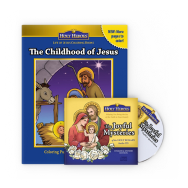 Joyful Mysteries CD & Childhood of Jesus coloring book