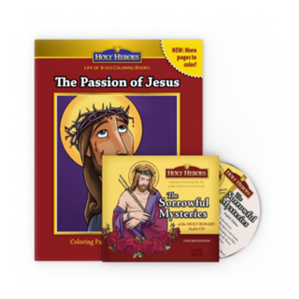 Sorrowful Mysteries CD & The Passion of Jesus coloring book