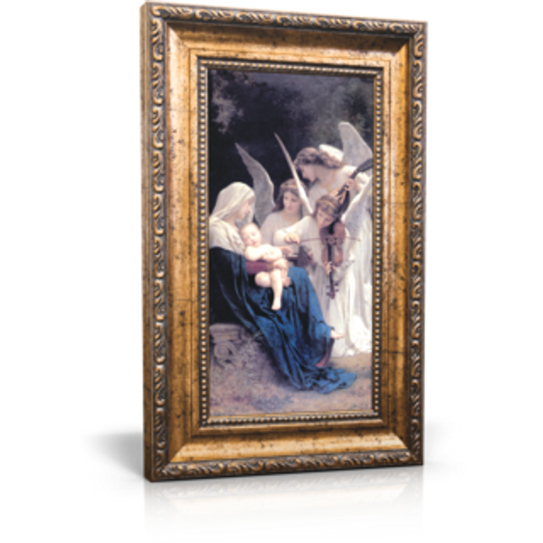 """Song of the Angels - Framed Canvas 6"""" x 11"""" (Including frame: 9.5"""" x 14.5"""")"""