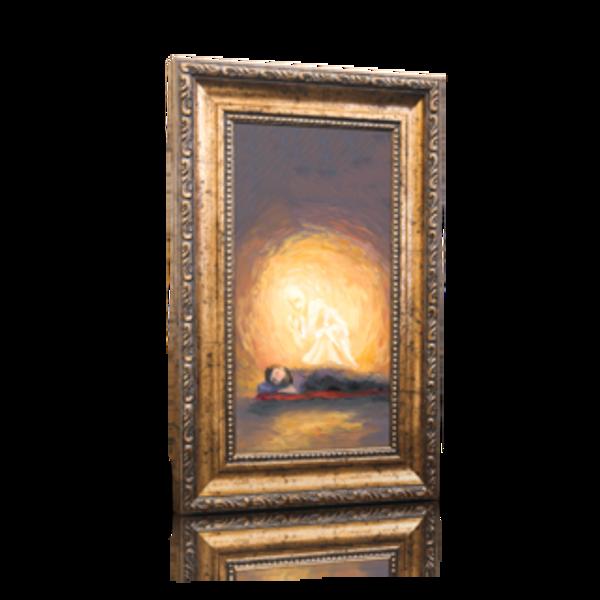 "An Angel Visits Joseph - 6"" x 11"" (Including Frame: 9.5"" X 14.5"")"