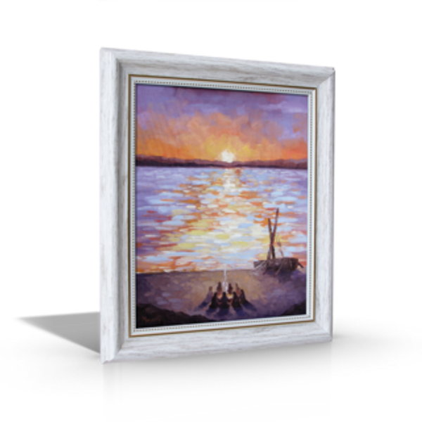 """Breakfast at Dawn - 8"""" x 10"""" (10"""" x 12"""" Including White Frame)"""