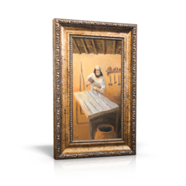 "Joseph the Carpenter - 6"" x 11"" (Including Frame: 9.5"" X 14.5"")"