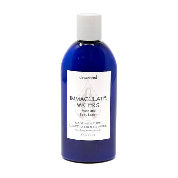 Immaculate Waters || Unscented Lotion made with Lourdes Water