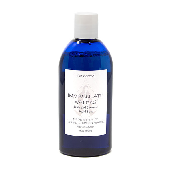 Bath and Shower Liquid Soap with Lourdes Water - Unscented