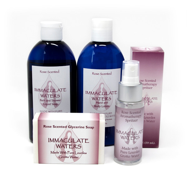 Immaculate Waters || Self-Care Pack: Assorted Rose Scented Gifts made with Lourdes Water