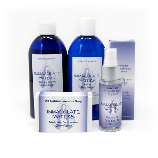 Immaculate Waters || Self-Care Pack: Assorted Lavender Scented Gifts made with Lourdes Water
